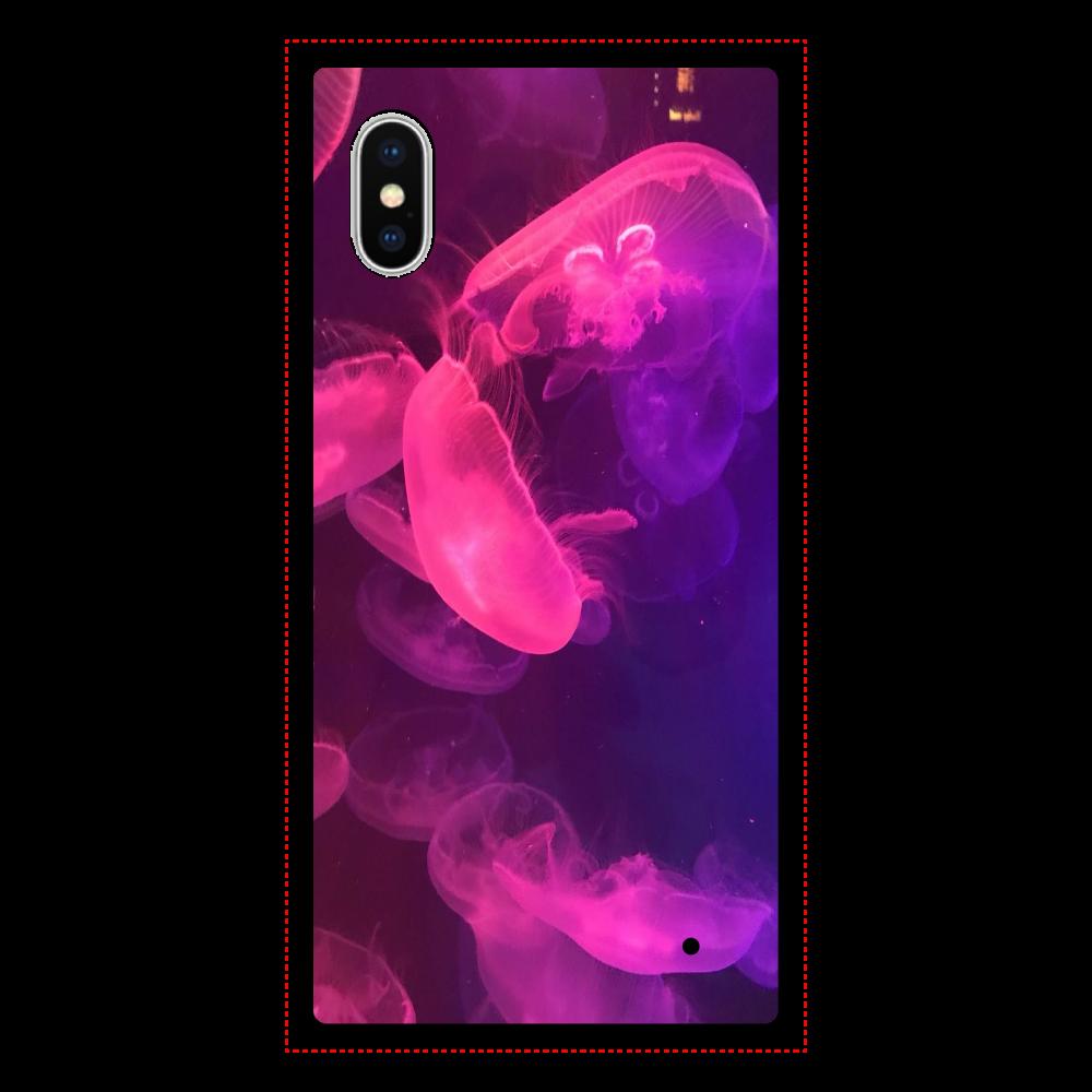 クラゲ iPhoneX/XS 背面強化ガラス(スクエア)
