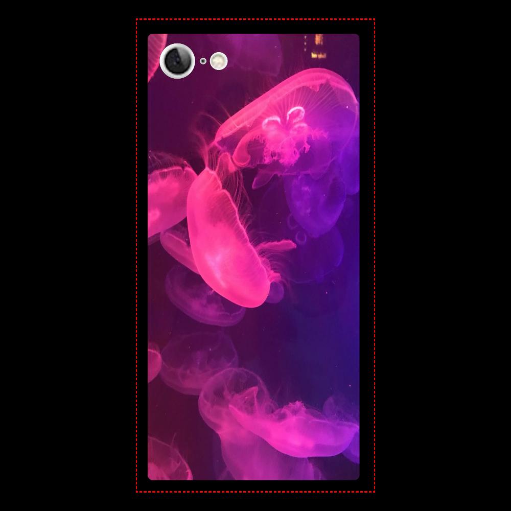 クラゲ iPhone8 背面強化ガラス(スクエア)
