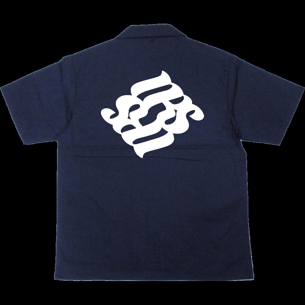 NRS 半袖ボタンシャツ T/Cオープンカラーシャツ