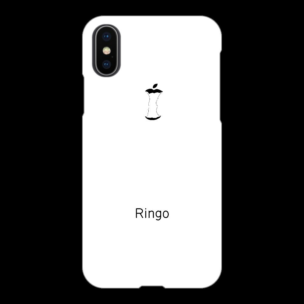 かじられリンゴ ホワイト iPhoneX/Xs(白)