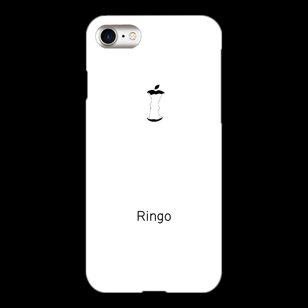 かじられリンゴ ホワイト iPhone8(白)
