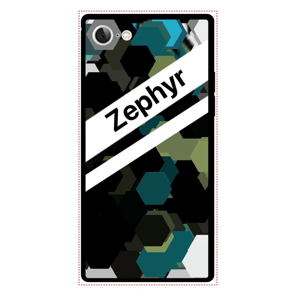 Zephyr【7】 iPhone7 背面強化ガラス(スクエア)