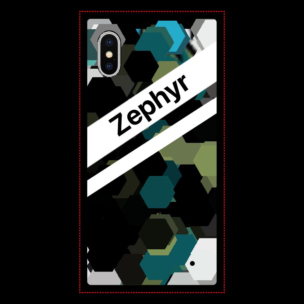 Zephyr【X】 iPhoneX/XS 背面強化ガラス(スクエア)