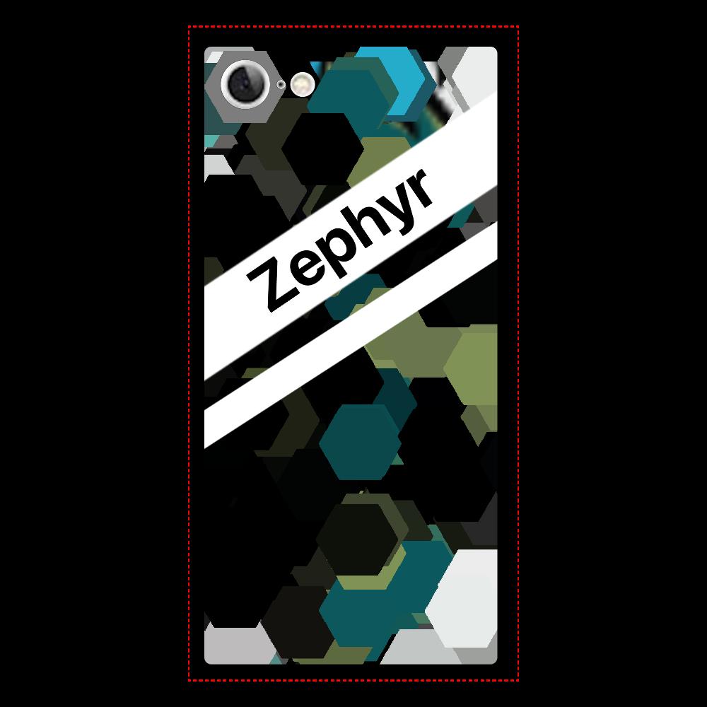 Zephyr【8】 iPhone8 背面強化ガラス(スクエア)