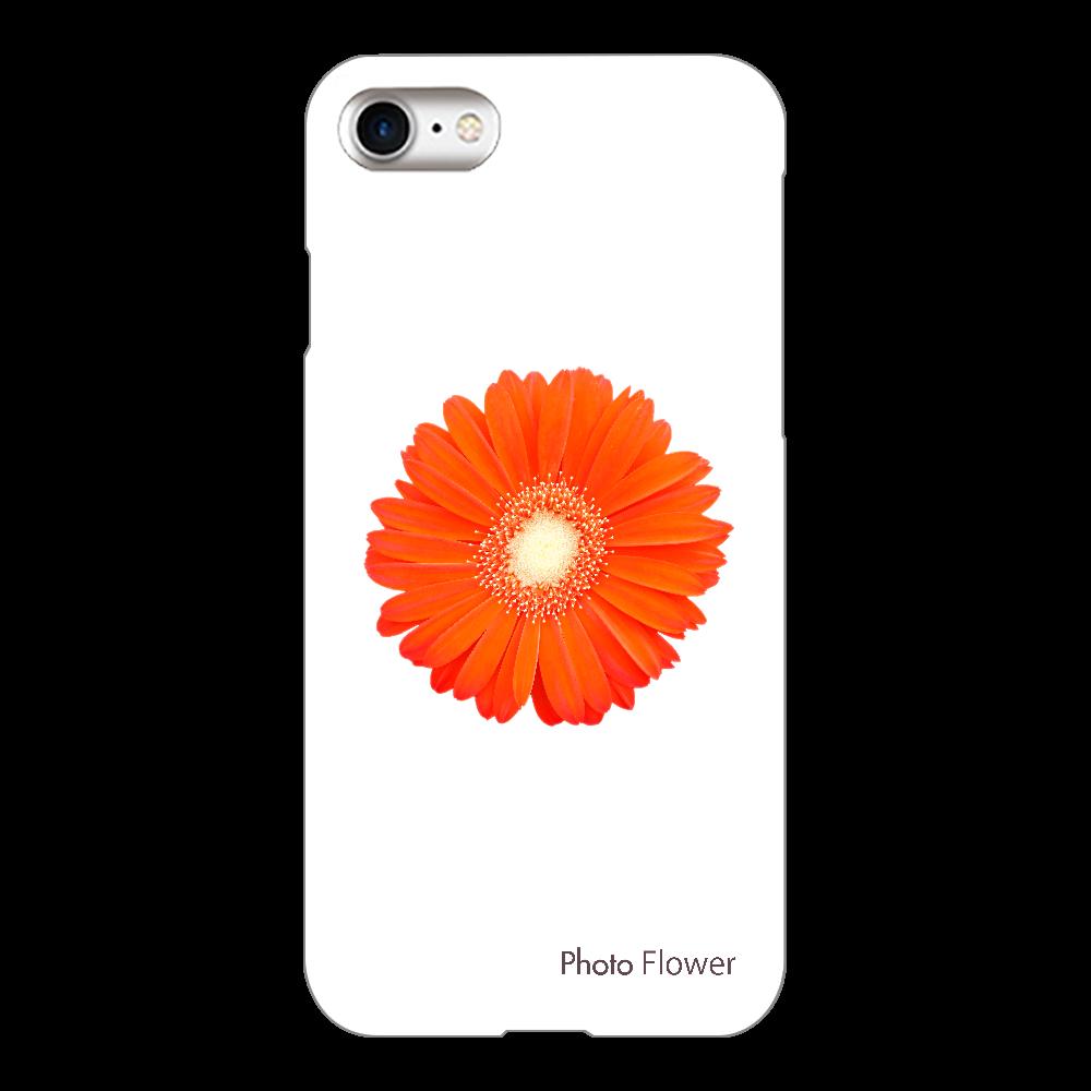ガーベラの花 オレンジ iPhone8(透明)
