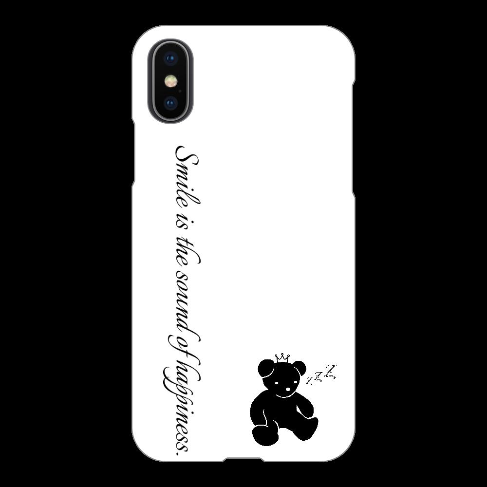スマホケース(白)1 iPhoneX/Xs(白)