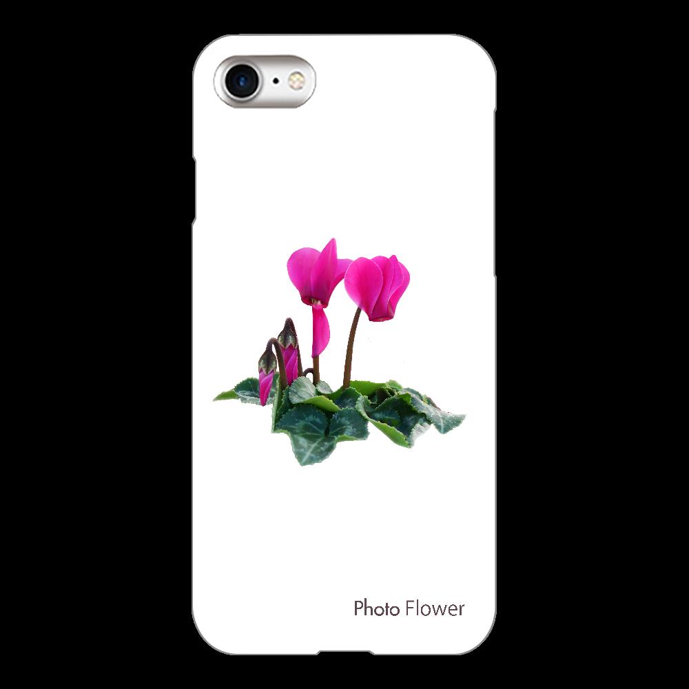 シクラメンの花 パープル iPhone8(透明)