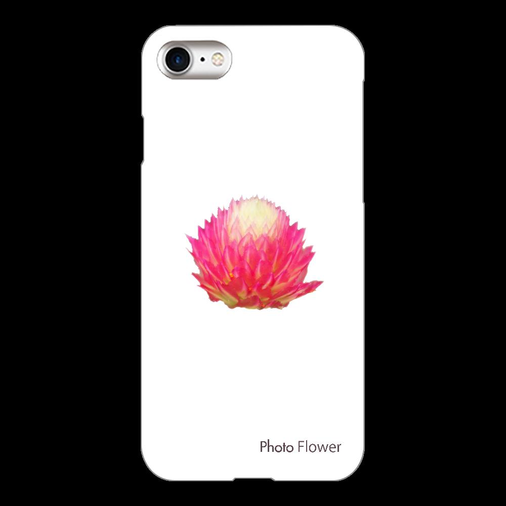 センニチコウの花 レッド iPhone8(透明)