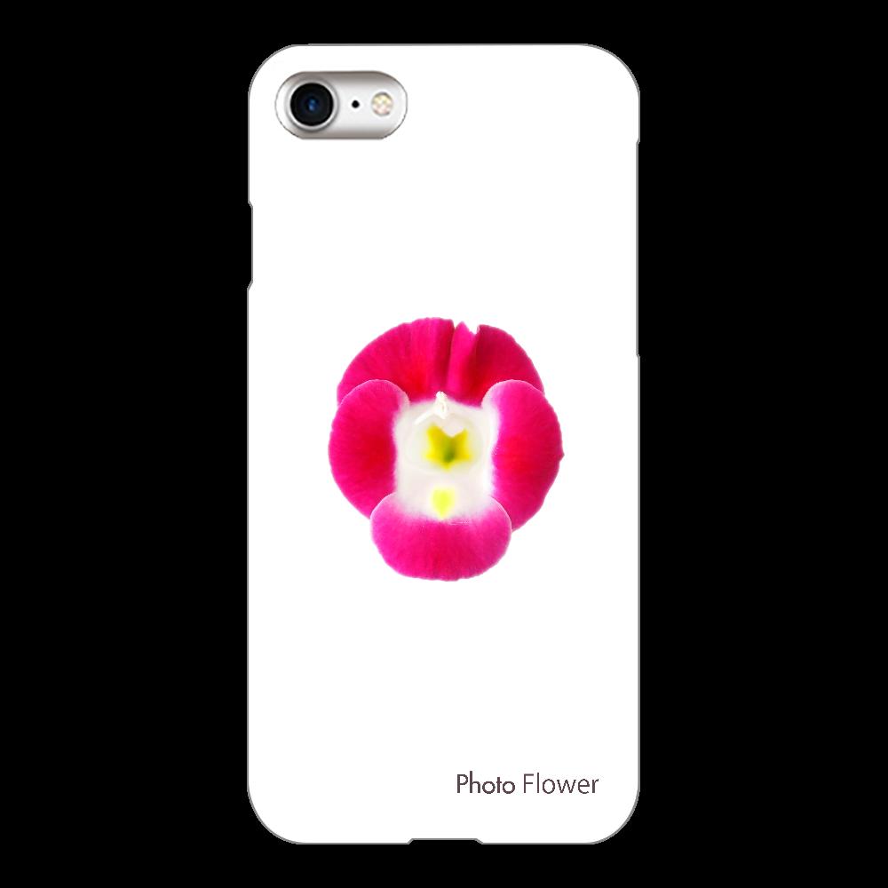 トレニアの花 パープル iPhone8(透明)