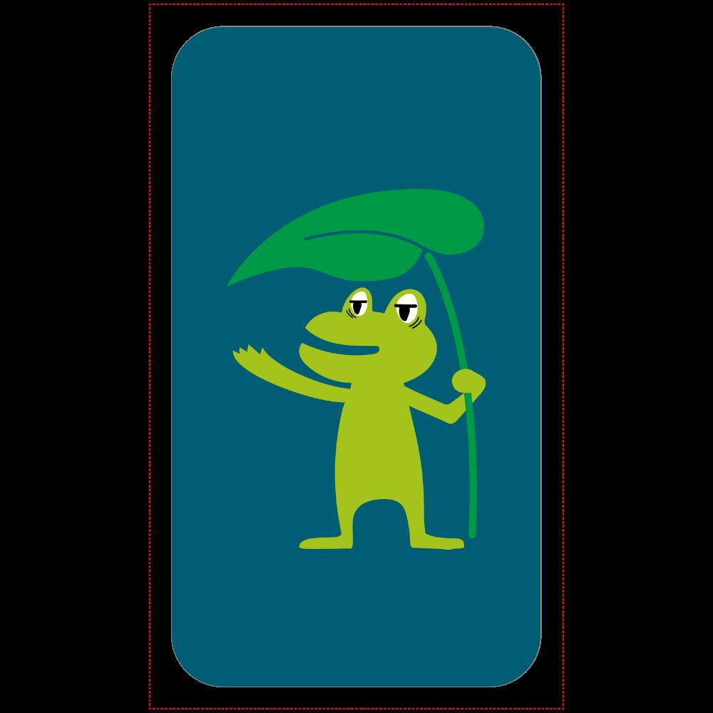 葉っぱの傘と眠たいカエルくん 残量表示付きモバイルバッテリー(4000mAh)