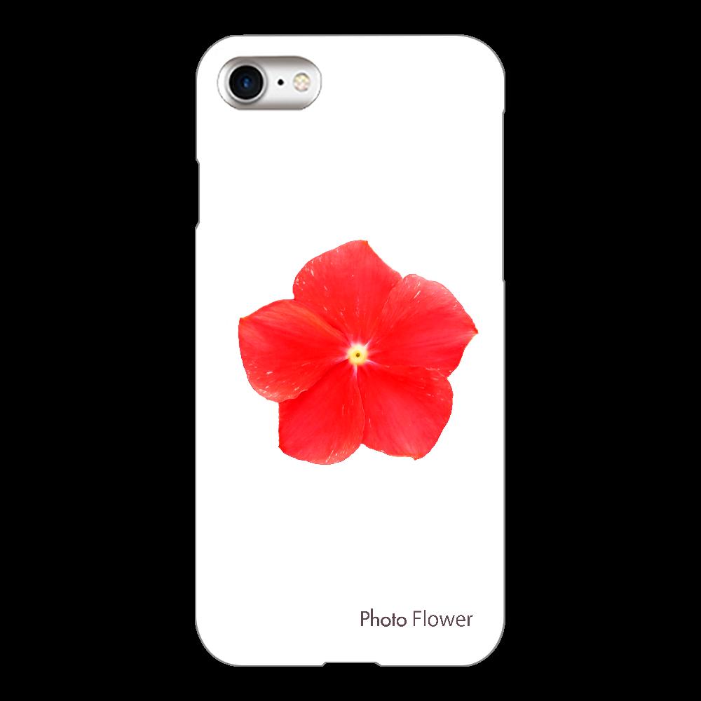ニチニチソウの花 レッド iPhone8(透明)