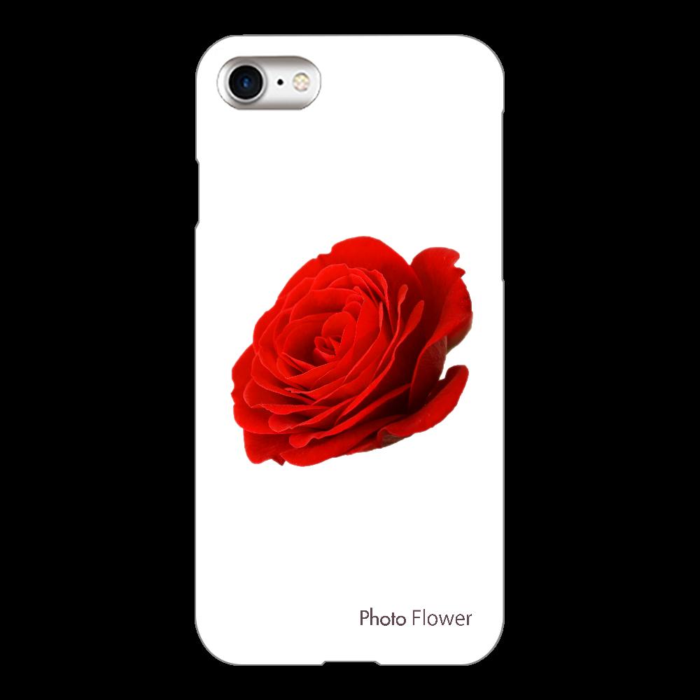 バラの花 レッド iPhone8(透明)
