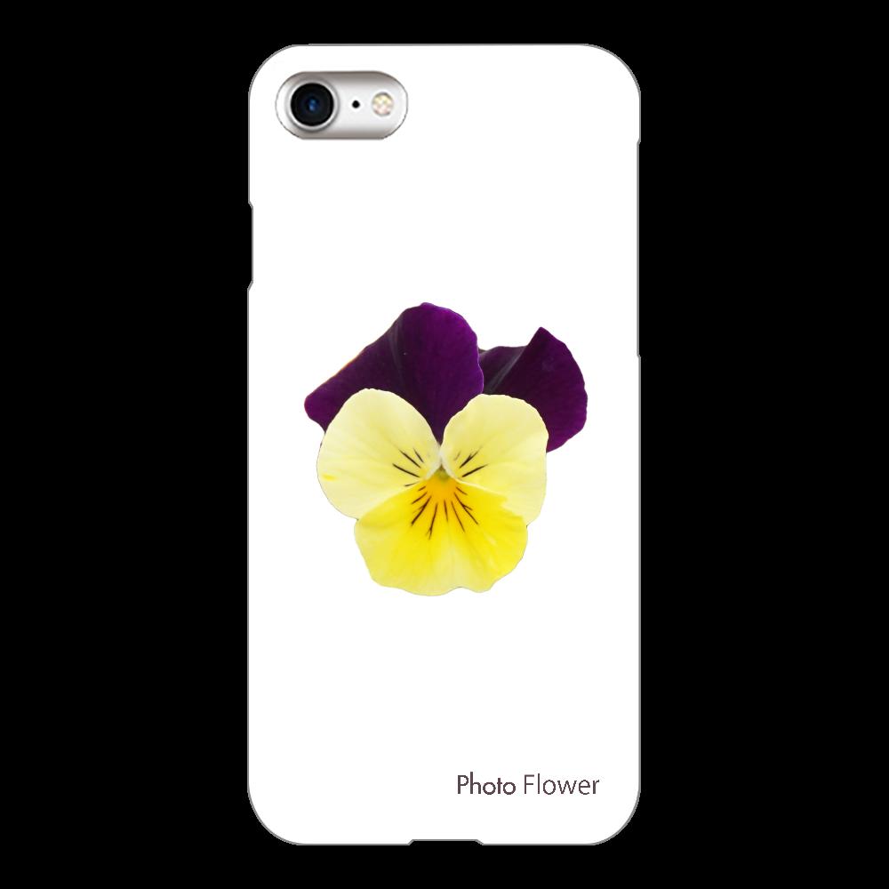 ビオラの花 イエロー iPhone8(透明)