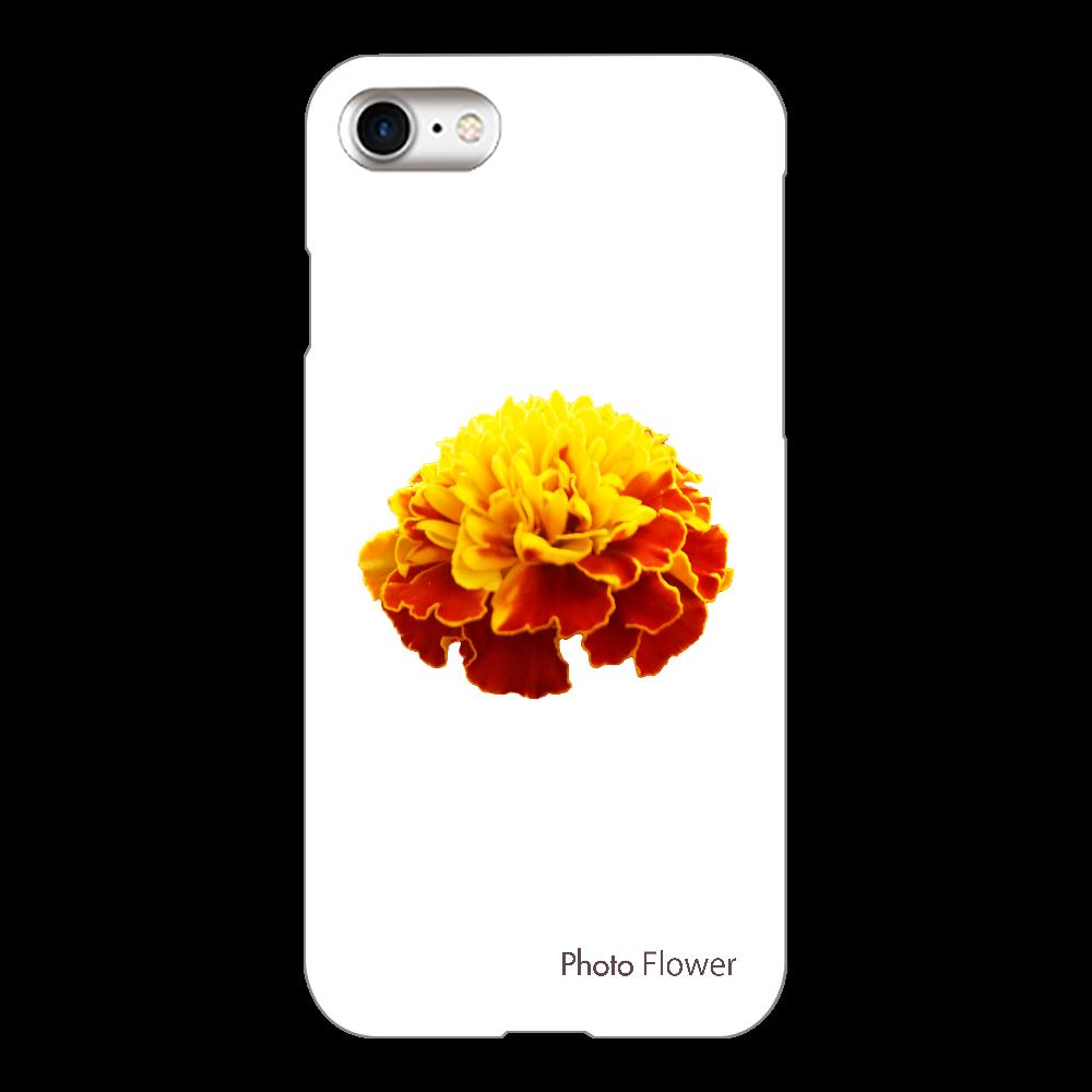 マリーゴールドの花 イエロー iPhone8(透明)