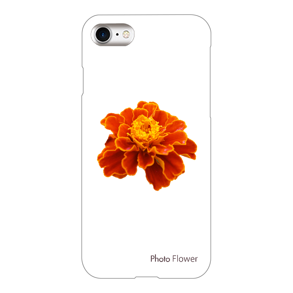 マリーゴールドの花 オレンジ iPhone8(透明)