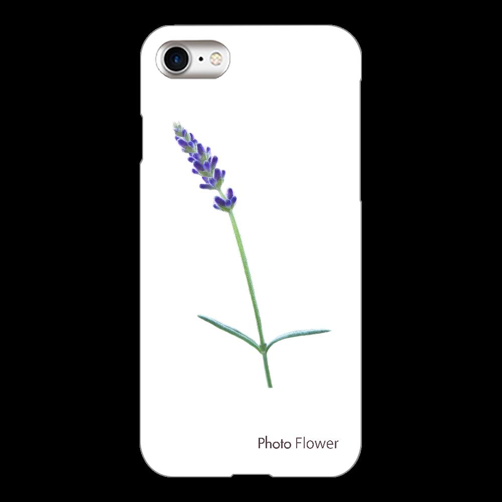 ラベンダーの花 ブルー iPhone8(透明)