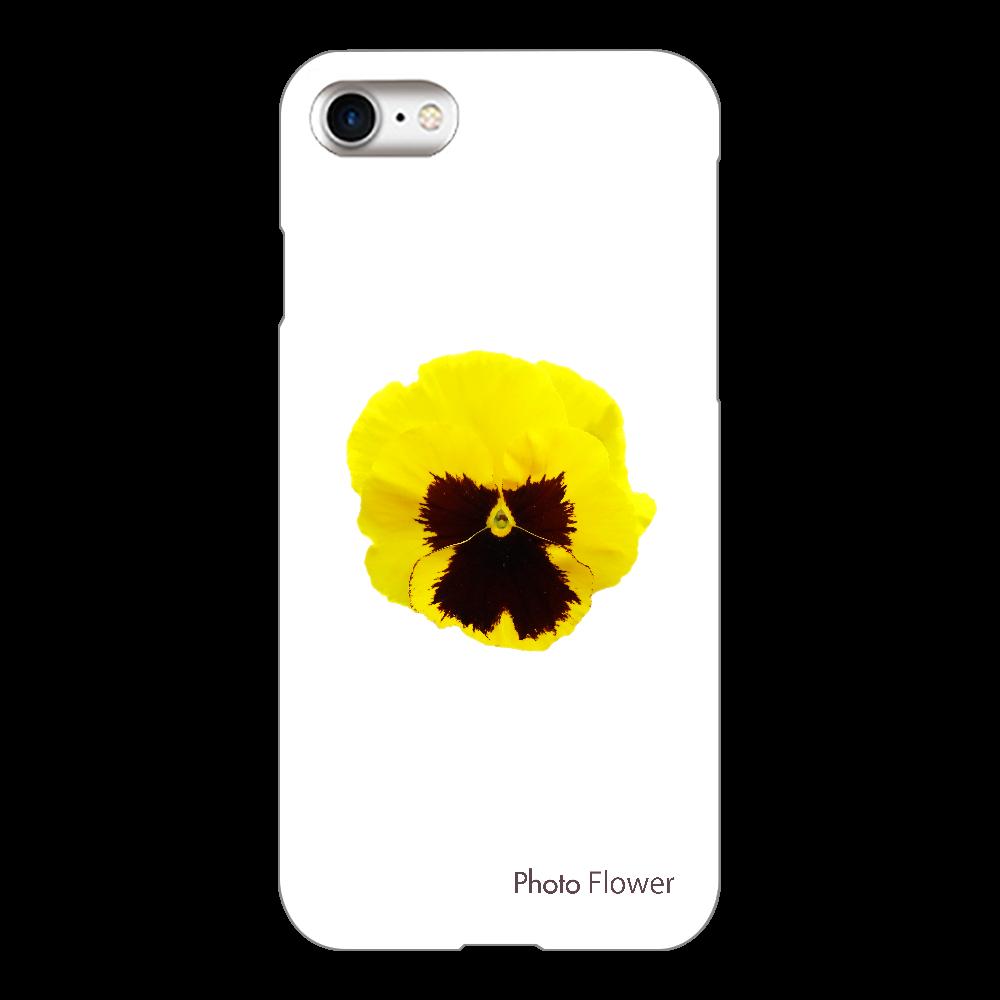 パンジーの花 イエロー iPhone8(透明)