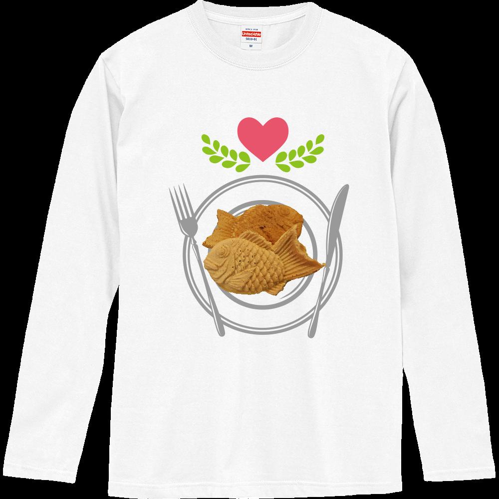 たい焼き(写真)・長袖Tシャツ※カラー選択可 ロングスリーブTシャツ