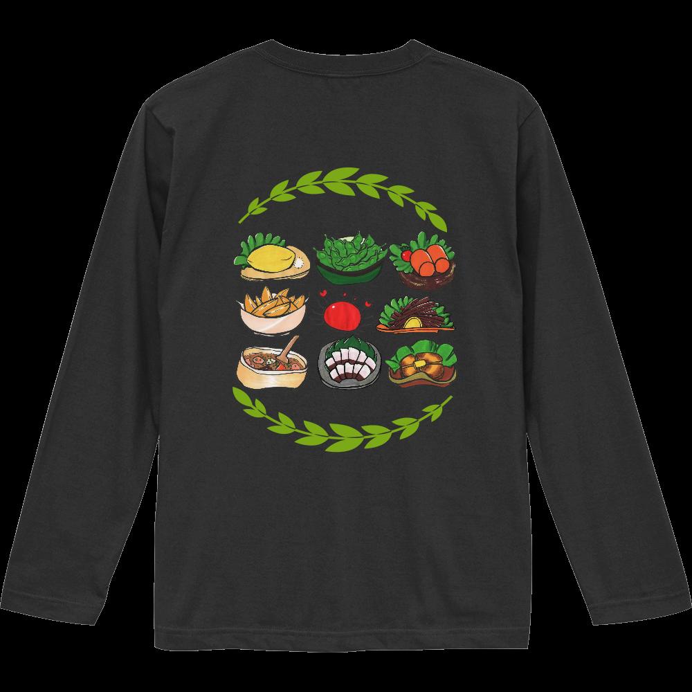居酒屋メニューセット・長袖Tシャツ(背面プリント)※カラー選択可 ロングスリーブTシャツ