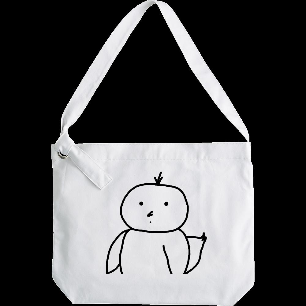 【オリラボ限定】トリ男デザイン/クラフトリングショルダーバッグ・ホワイト クラフトリングショルダーバッグ
