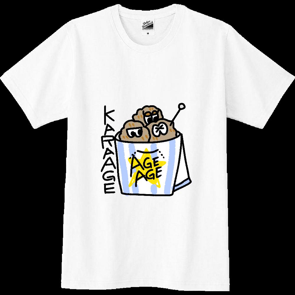 唐揚げTシャツ スリムTシャツ