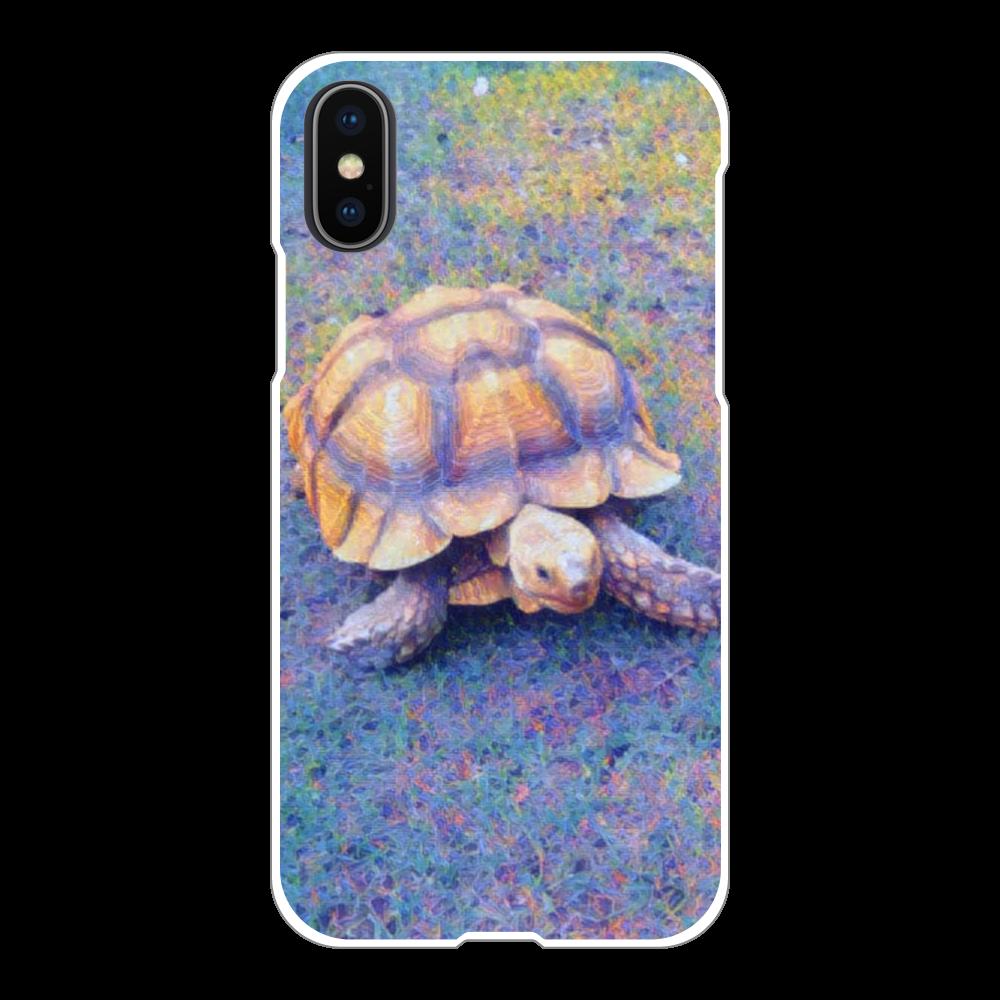 リクガメ iPhoneX/Xs(白)