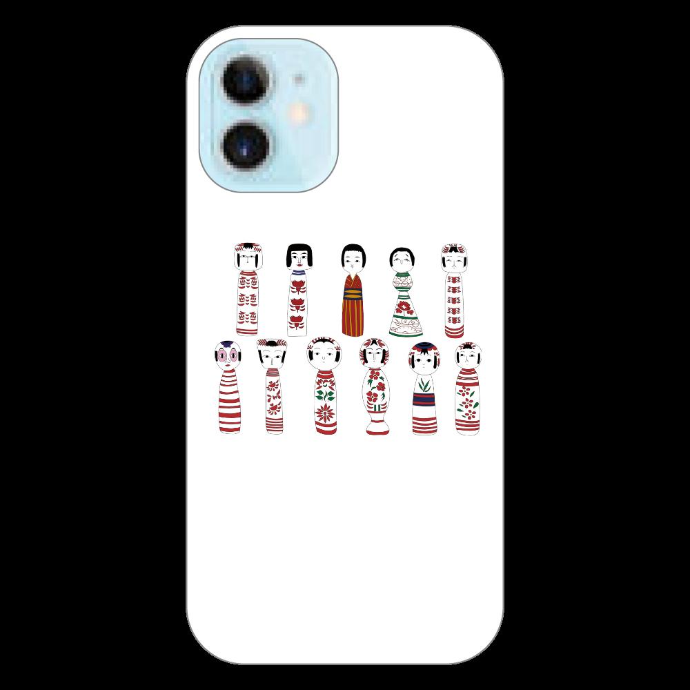 こけ繭のこけしiPhoneケース iPhone12 mini