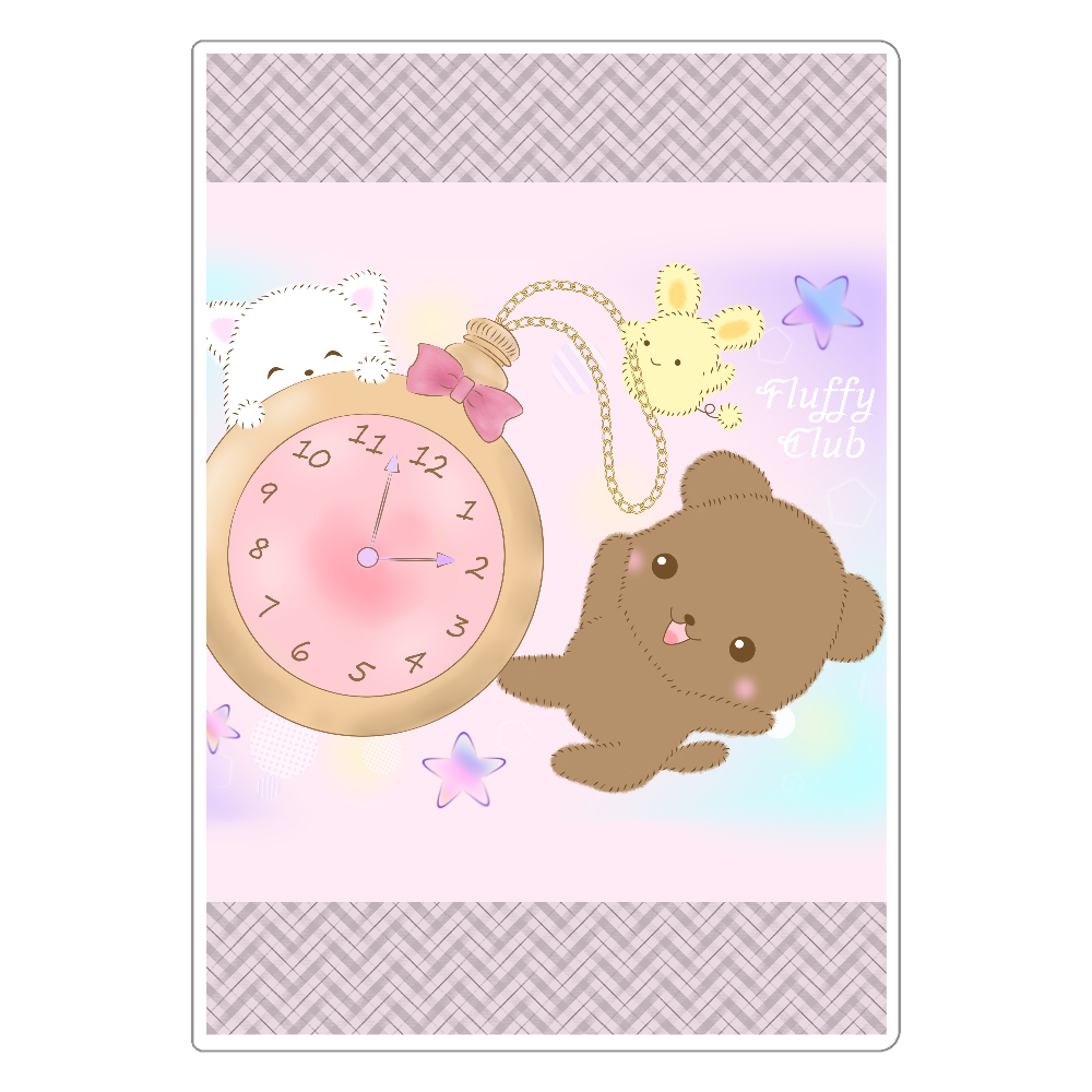 Fluffy Club懐中時計 ソフトレザーノート