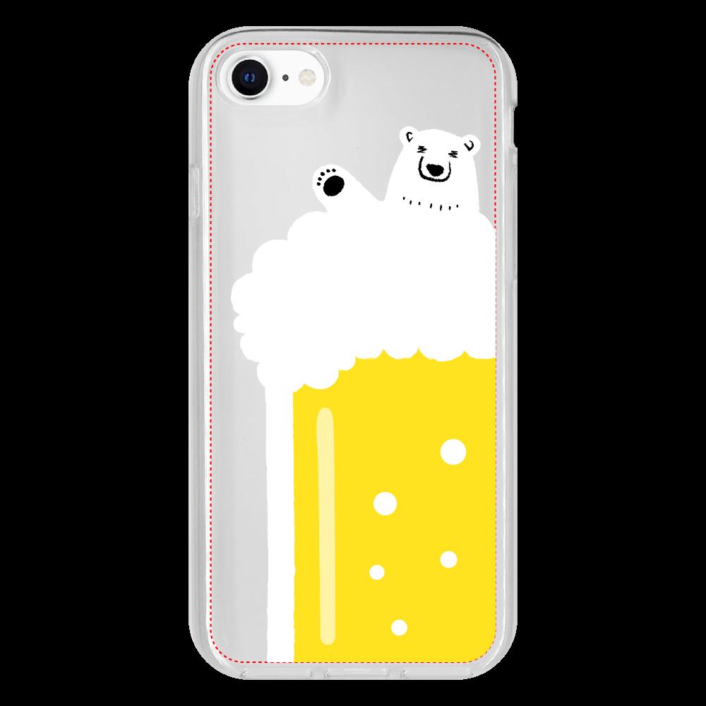 シロクマさんのビール風呂 iPhone 8 抗菌ソフトケース