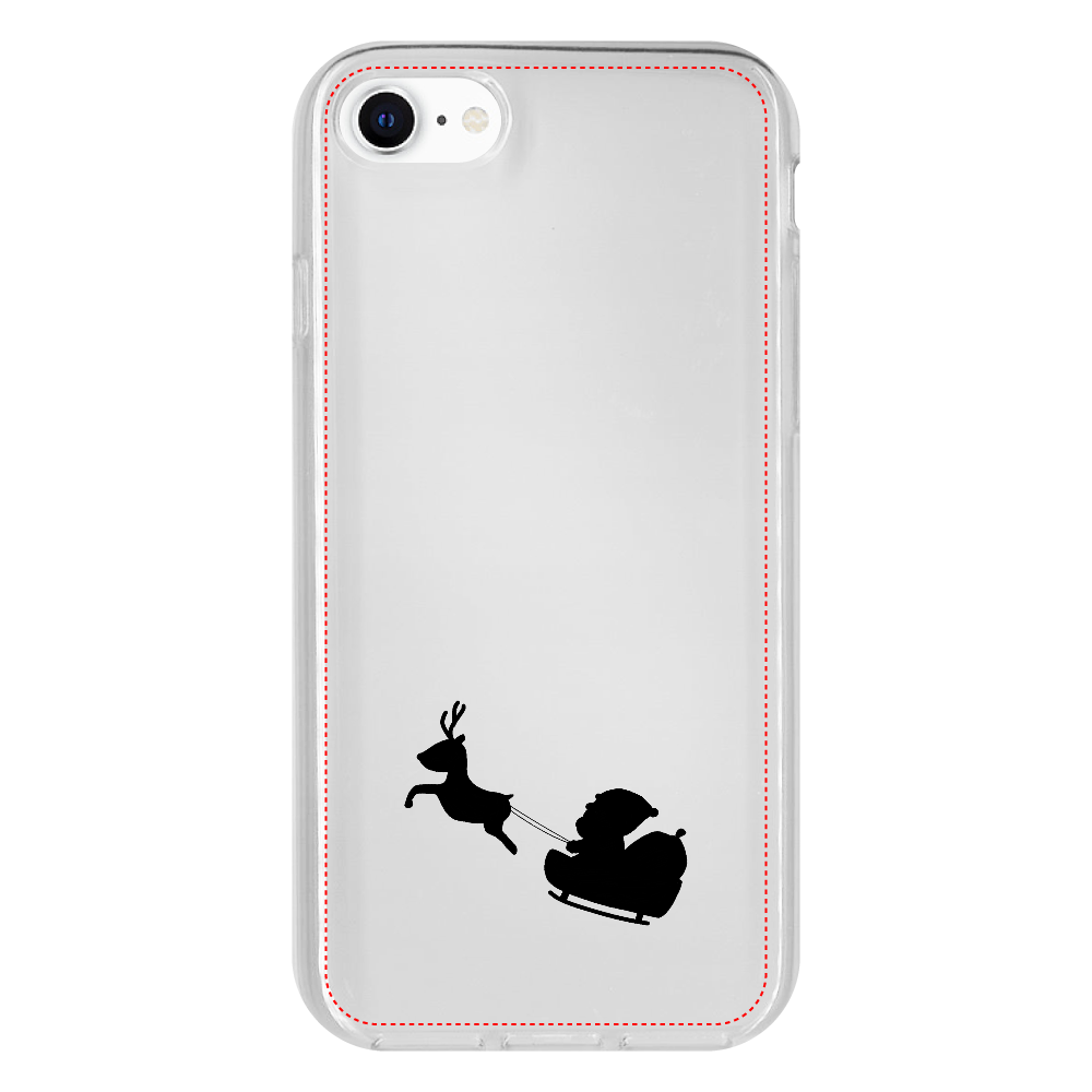 サンタとトナカイ iPhone SE2 抗菌ソフトケース