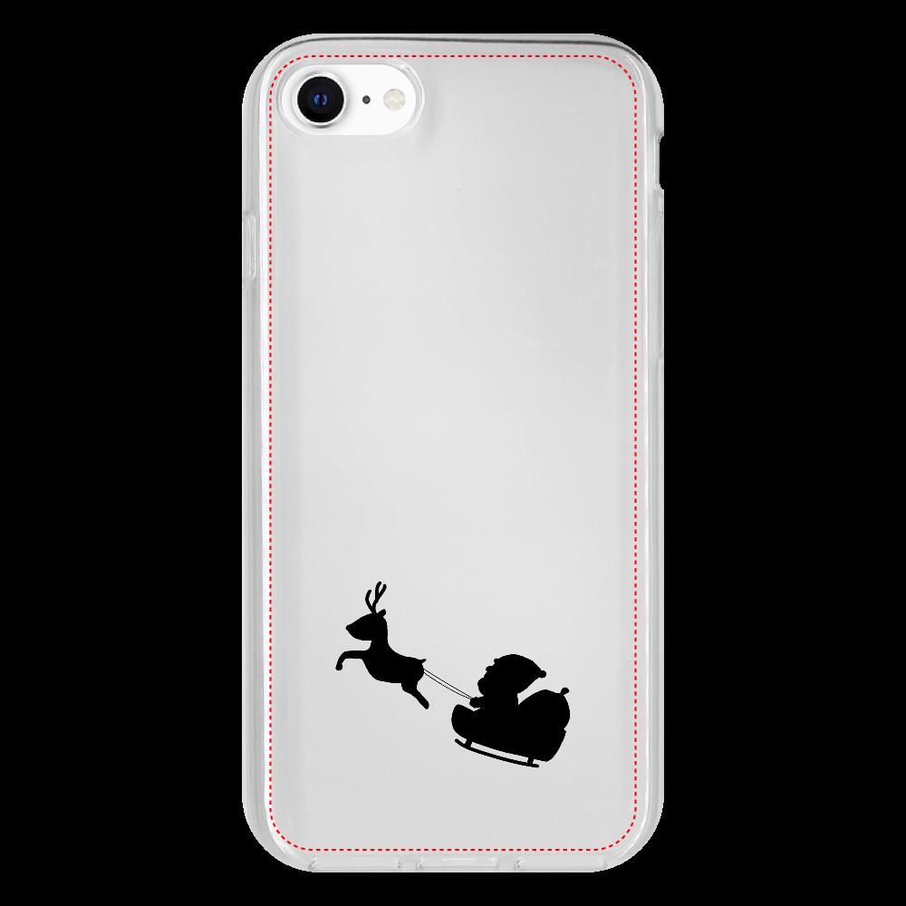 サンタとトナカイ iPhone 8 抗菌ソフトケース