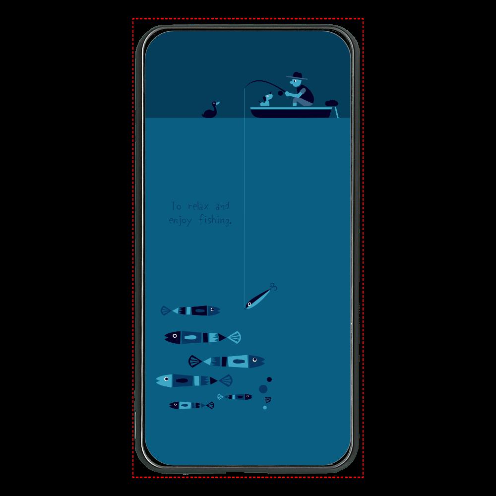 のんびりと夜釣りを楽しむ 大容量モバイルバッテリー 両面ガラス 8000mAH