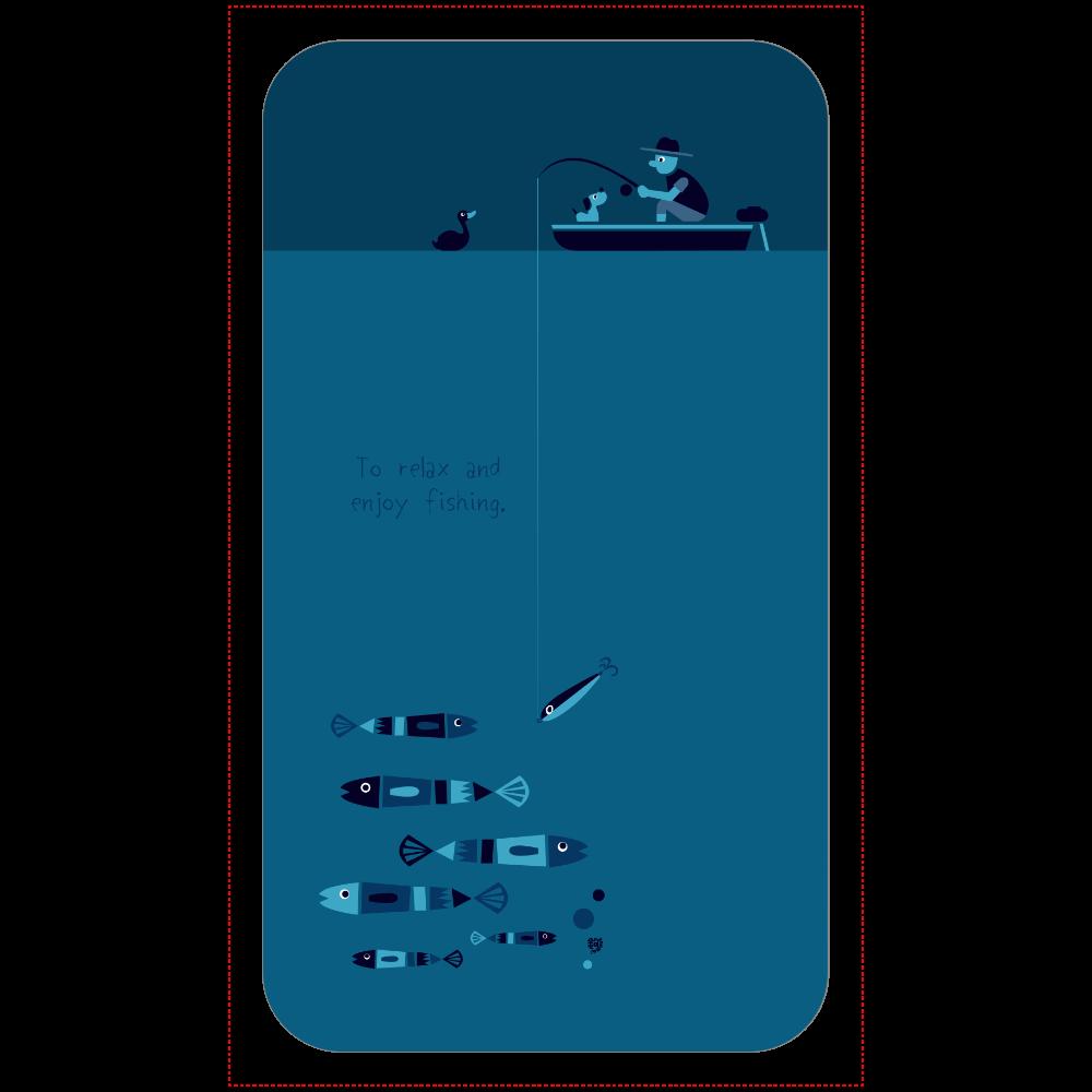 のんびりと夜釣りを楽しむ 残量表示付きモバイルバッテリー(4000mAh)