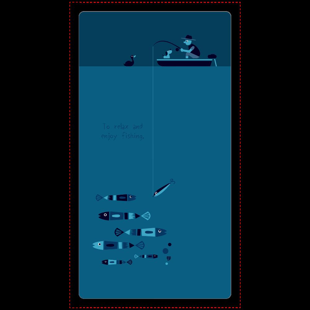 のんびりと夜釣りを楽しむ cheero モバイルバッテリー(5000mAh)