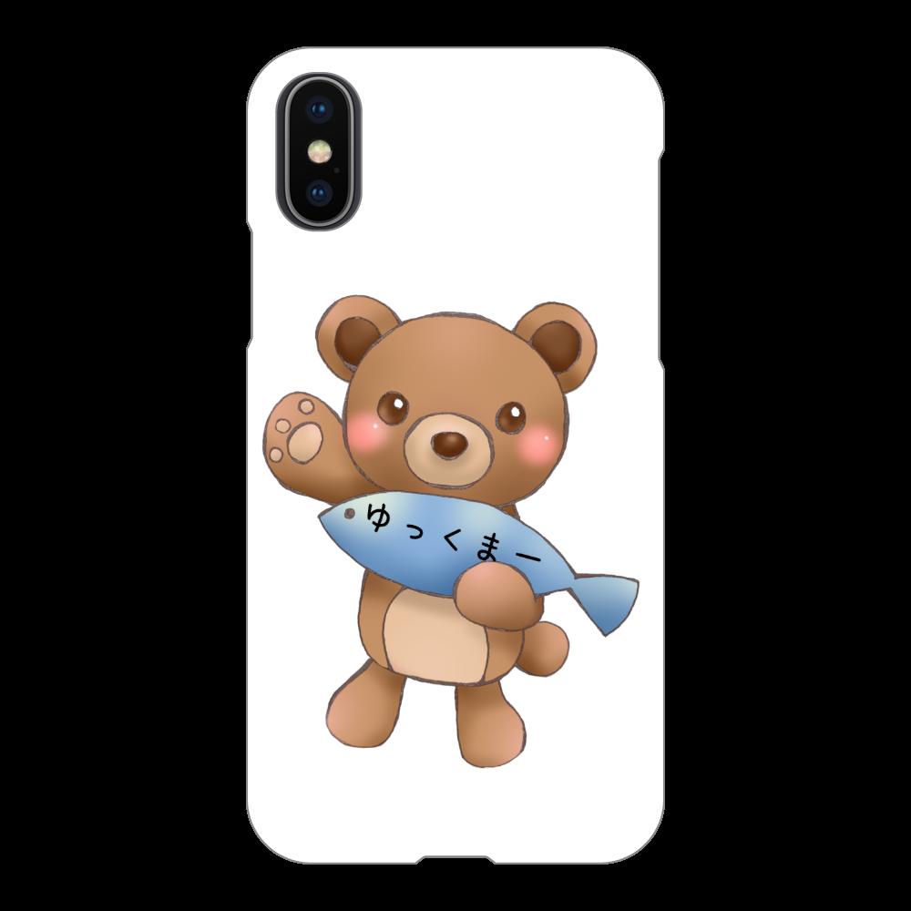 ゆっくまーiPhoneX/Xsケース iPhoneX/Xs(白)
