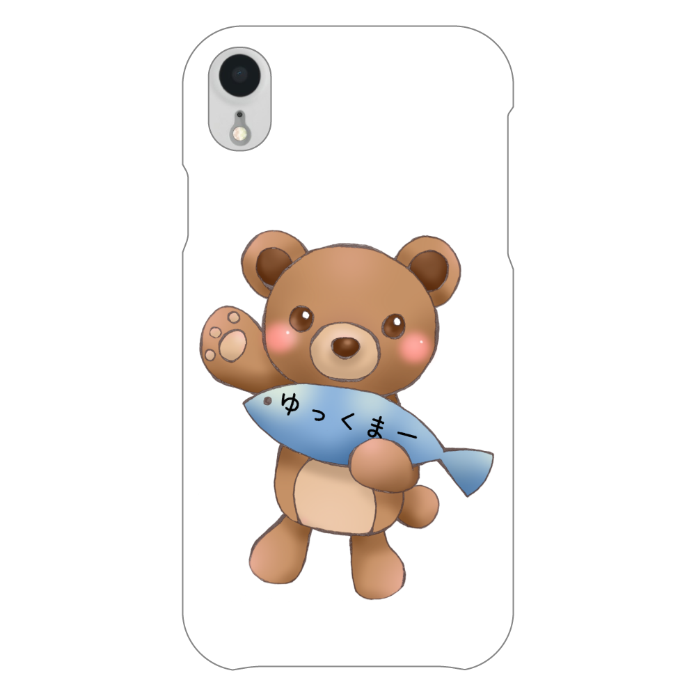 ゆっくまーiPhoneXRケース iPhoneXR(白)
