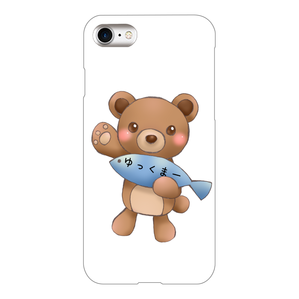 ゆっくまーiPhone8ケース iPhone8(白)
