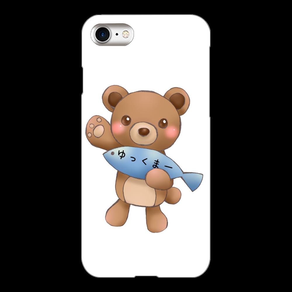 ゆっくまーiPhone7ケース iPhone7(白)