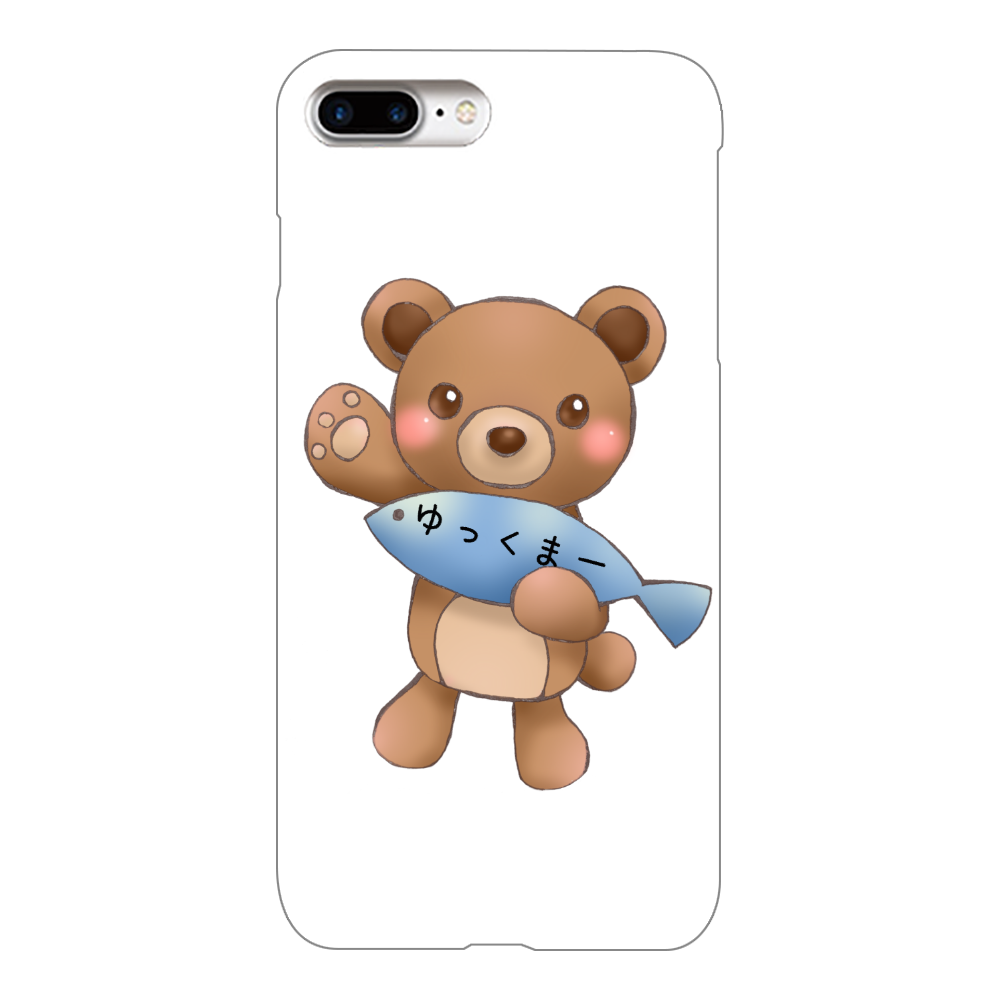 ゆっくまーiPhone7Plusケース iPhone7Plus(白)