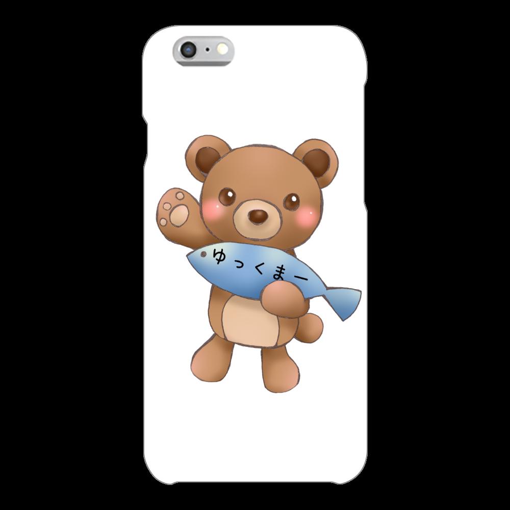 ゆっくまーiPhone6/6sケース iPhone6/6s(白)