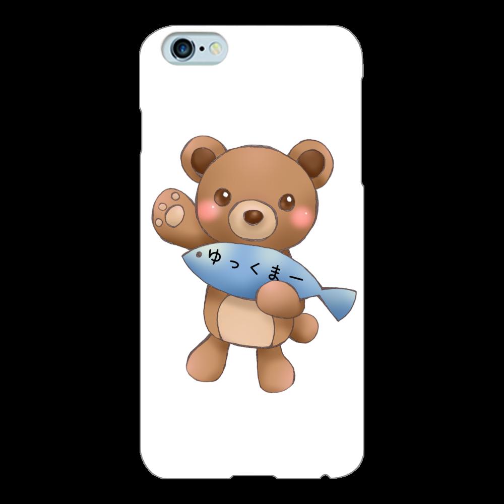 ゆっくまーiPhone6Plus/6sPlusケース iPhone6Plus/6sPlus(白)