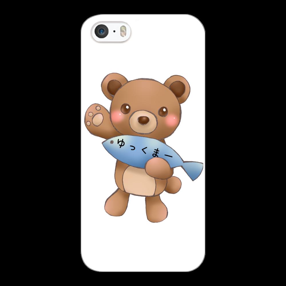 ゆっくまーiPhone5/5s/SEケース iPhone5/5s/SE(白)