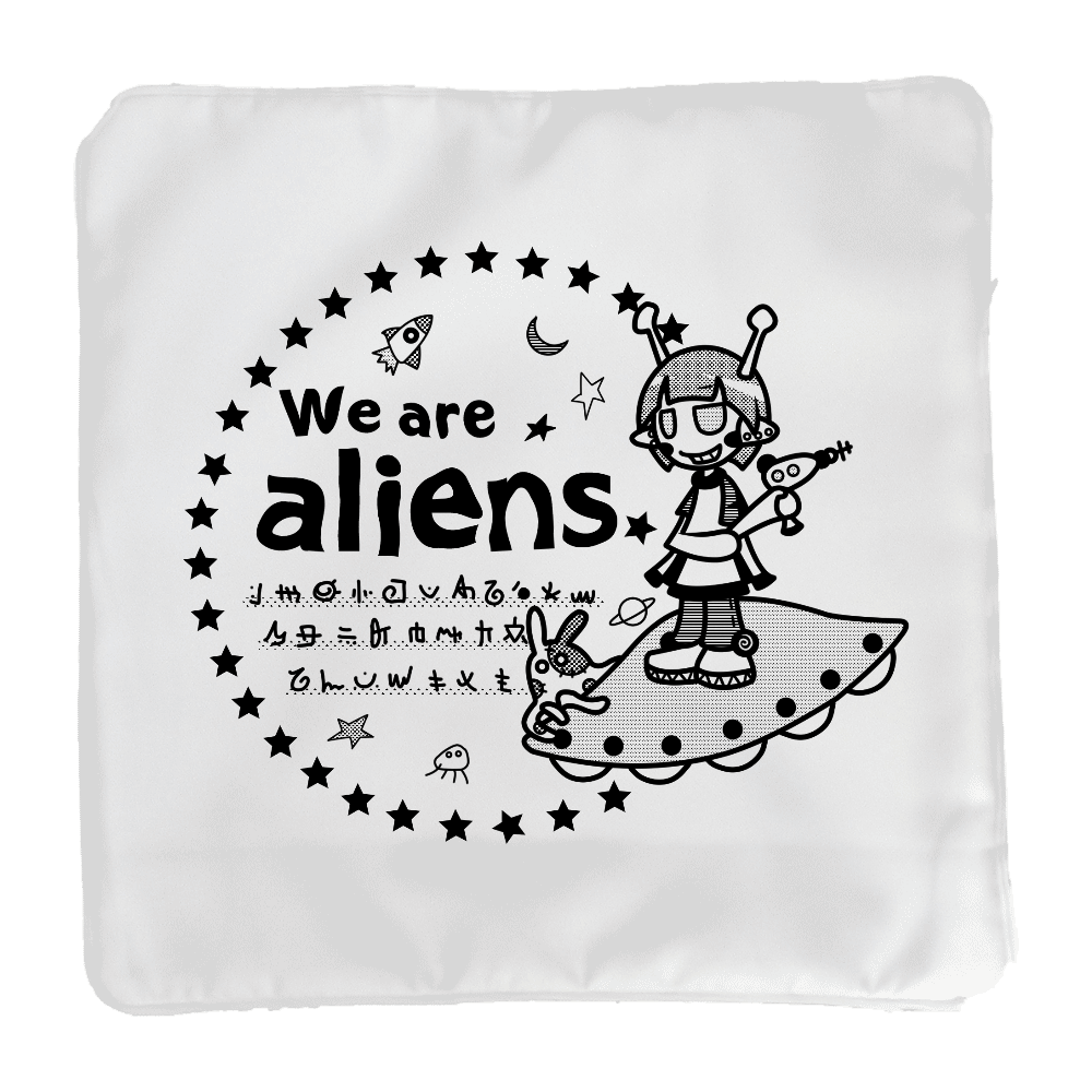 我々は宇宙人だ クッションカバー(小)カバーのみ クッションカバー(小)カバーのみ
