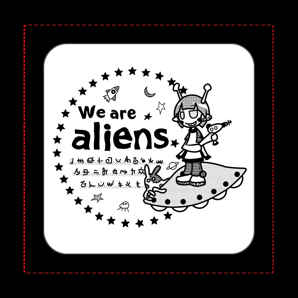 我々は宇宙人だ タオル 全面プリントハンカチタオル