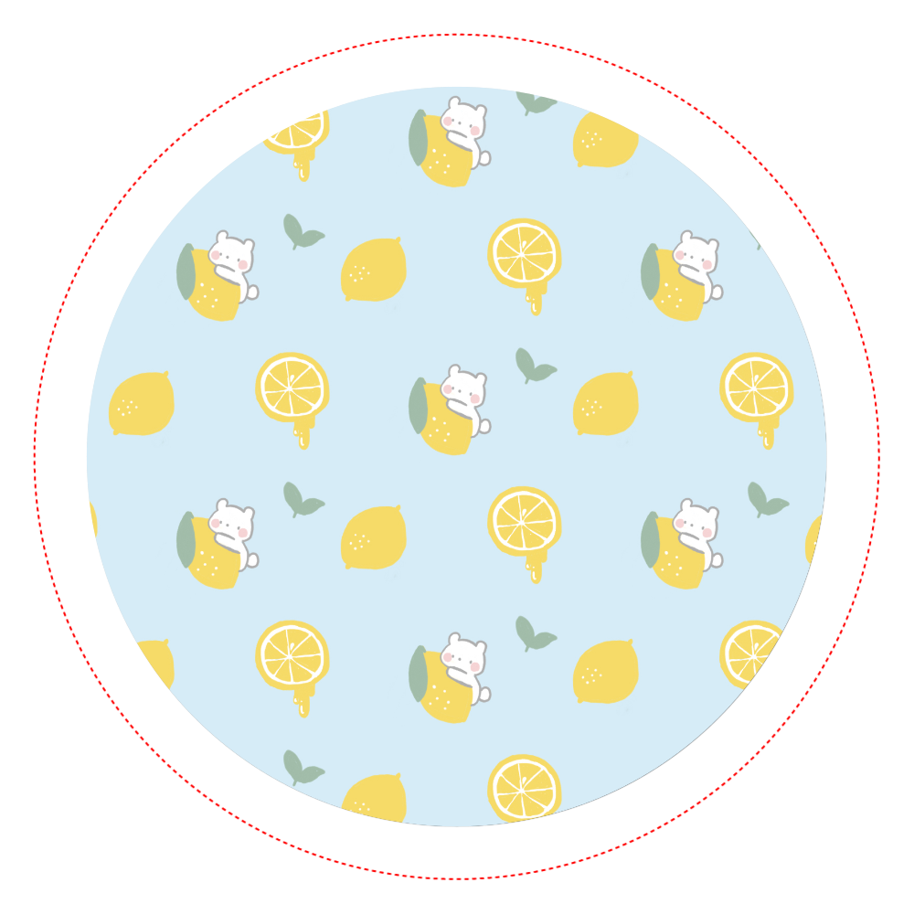 レモンとしろくま オリジナル缶バッジ白背景(56mm)