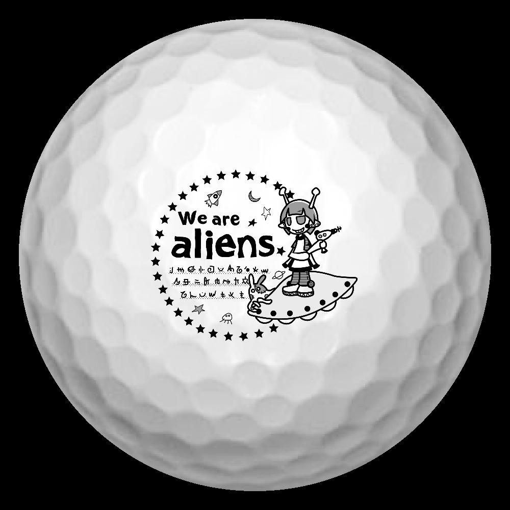 我々は宇宙人だ ゴルフボール ゴルフボール(3個セット)