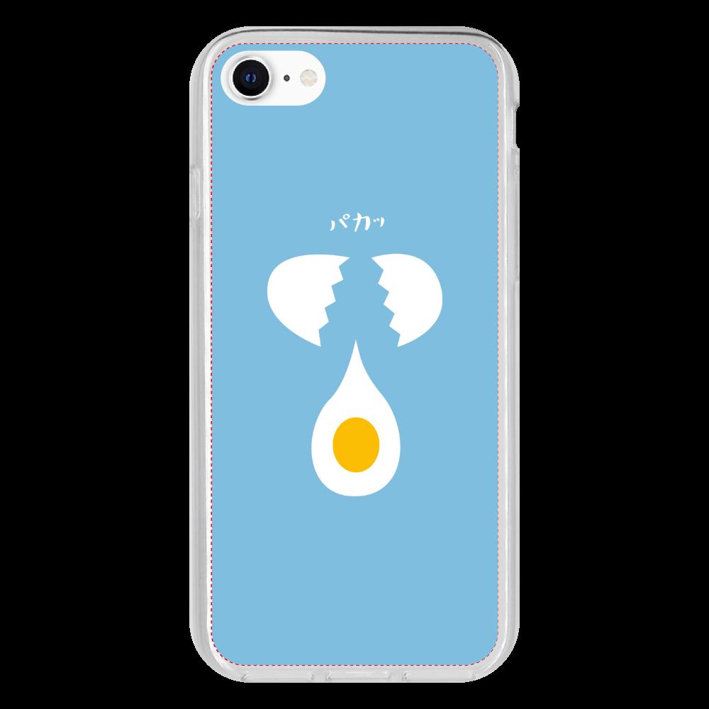 生たまごをパカッとろん iPhone 8 抗菌ソフトケース