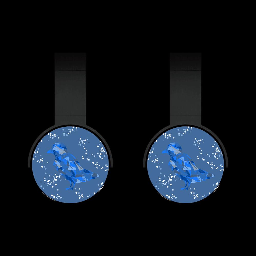 青いカラスヘッドフォン(Bluetooth) Bluetoothヘッドフォン