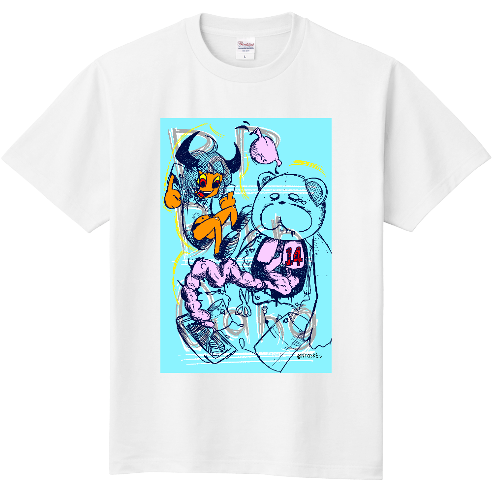 【365Tシャツ】14.POP BORN GANG 定番Tシャツ