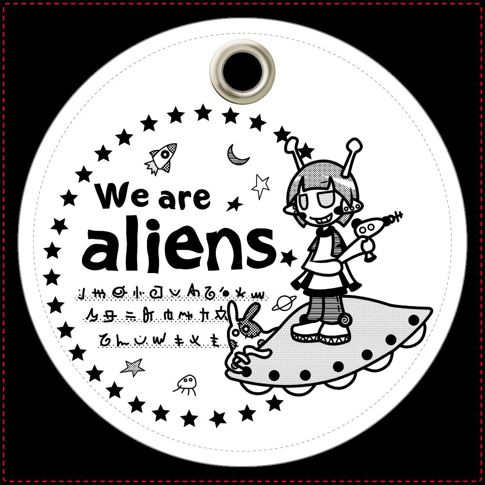 我々は宇宙人だ キーホルダー レザーキーホルダー(丸型)